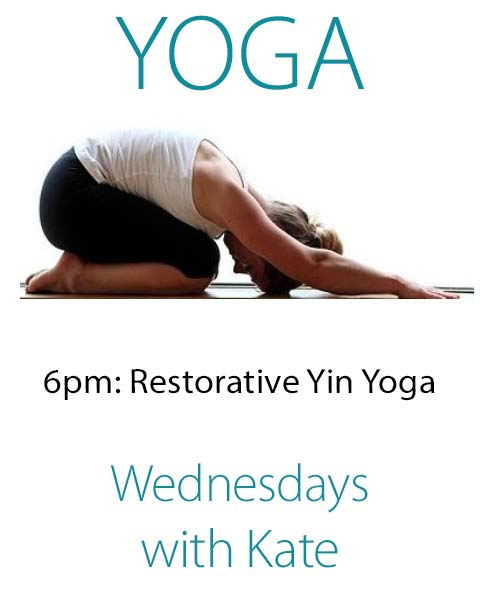 Restorative Yin Yoga at Rigby's Jig