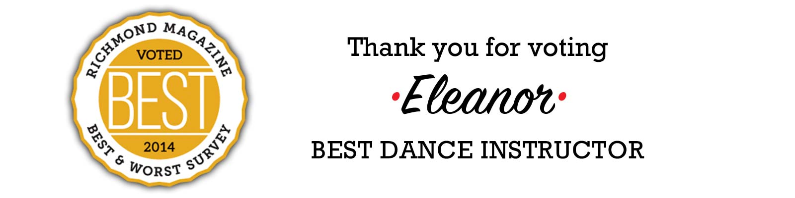 Eleanor - Voted Best Dance Instructor in Richmond Virginia