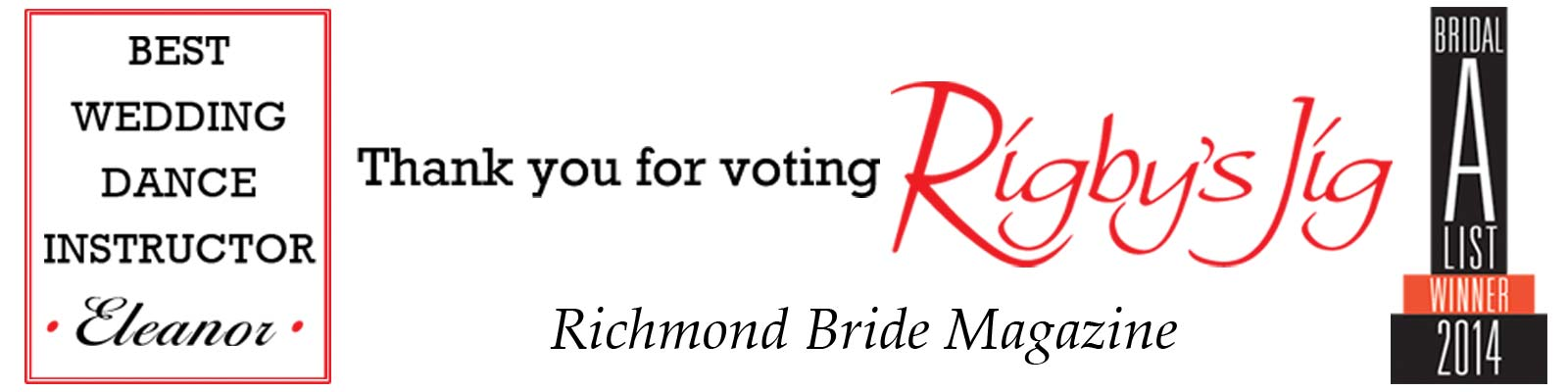 Voted in Richmond Bride Magazine as Best Wedding Dance Instructor